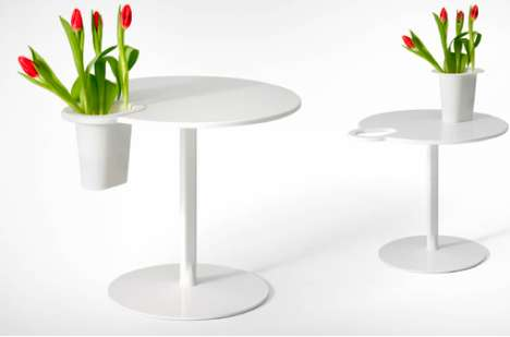 Vase-Clenching Coffee Tables