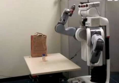 Grocery-Bagging Robots - Stanford University's Incredible PR2 Robot is an Android Checkout Cle
