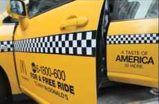 Free Fast-Food Taxis - The McDonald's Yellow Cab Campaign Offers People Rides to Try New Burger