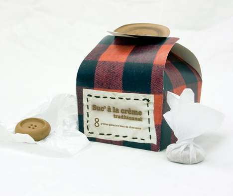Pretty Plaid Packaging - Camille Brunelle Fudge Packages Inspired by Friendly Canadian Culture