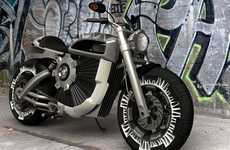 Intimidating Electro-Bikes - Alex Kish's Electric Motorcycle is Perfect for Badass Eco Activists