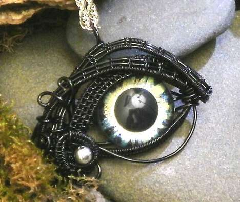 Eerie Eyeball Jewelry - These Twisted Sister Arts Pendants Have Their Eyes on You