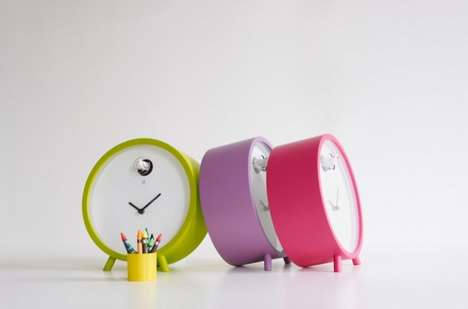 Whimsically Colorful Clocks
