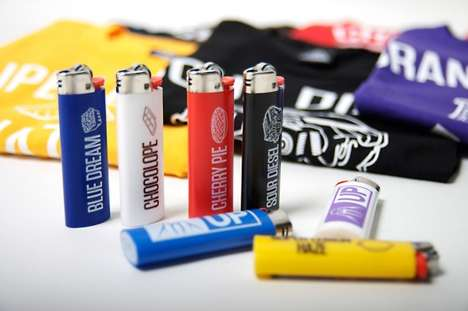 Cannabis-Flavored Fashion - The Upper Playground Walrus Pop Collection Pairs Lighters With Tees
