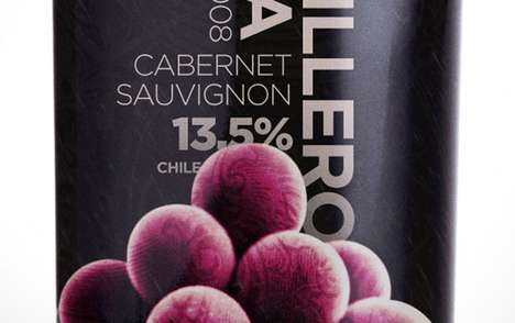 Fruitful Booze Branding - The Casillero Silva Wine Bottle is as Attractive as It is Delectable
