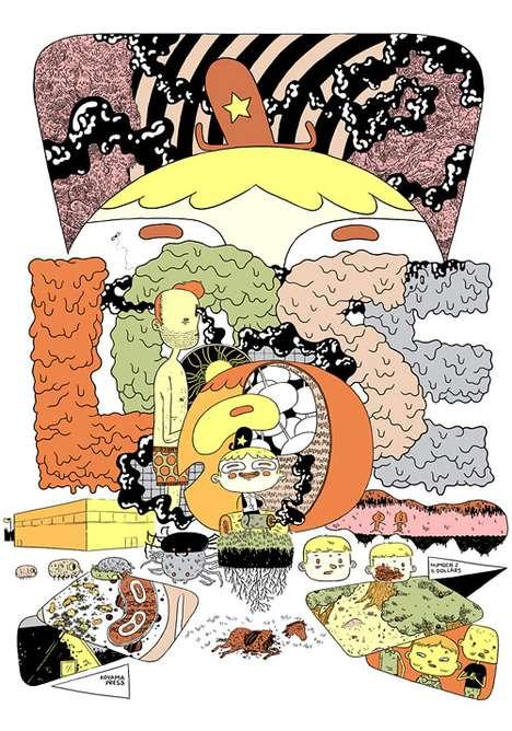 Vibrant Surrealist Comics