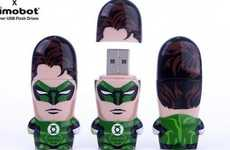 Comic Book Flash Drives - The Green Lantern Mimobot USB Flash Drive Will Protect Your Files