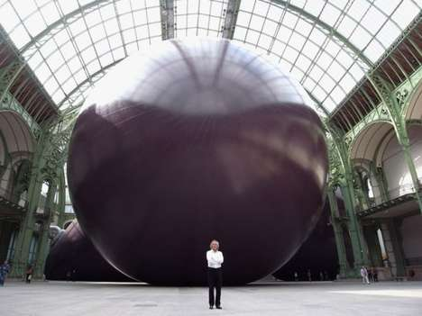 Massive Monument Installations - Anish Kapoor's Cathedral-like Installation in Paris is Incredible