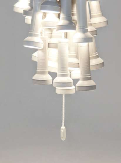 Clustered Flashlight Chandeliers