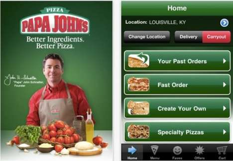 Pizza-Ordering Apps - The Papa John's for iPhone App Lets You Touch to Order