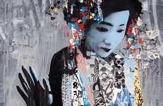 Geisha Graffiti - The HUSH TWIN Exhibition Presents Exotic Street Art