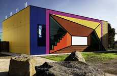 Mind-Bending Surrealist Libraries - Avondale Heights Library Offsets Simple Design with Bold Colors
