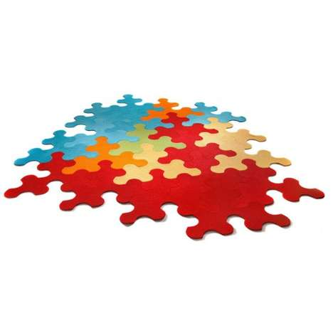 Color-Popping Puzzle Rugs