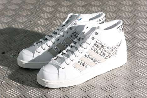 Studded Striped Sneakers