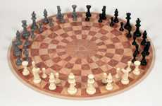 Spherical Strategy Games - The 3 Man Chess Board Lets You Outsmart Two of Your Smartest Friends