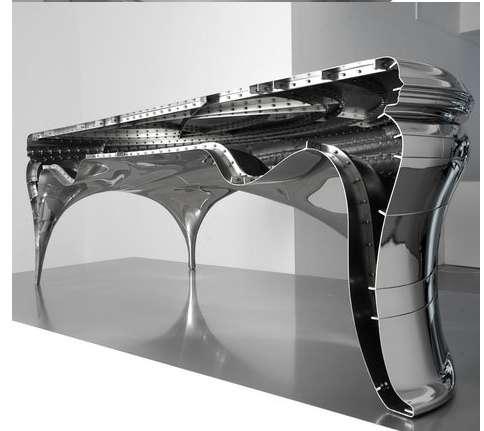 Masculine Steel Workspaces : Lectori Salutem Desk by Jeroen Verhoeven
