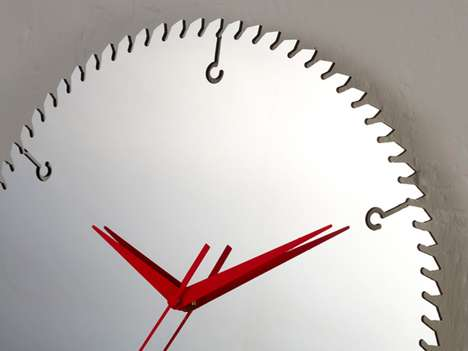 Saw Blade Timepieces