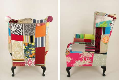 Vintage Patchwork Furniture - Kelly Swallow Creates Traditional Chairs With a Modern Flair