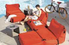 Bean Bag Couches - The Tie-1-On Sofa Looks Like a Giant Life Jacket