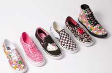 Fashionable Feline Sneakers - The Hello Kitty Vans Collection Has the Purrfect Shoes for Summer