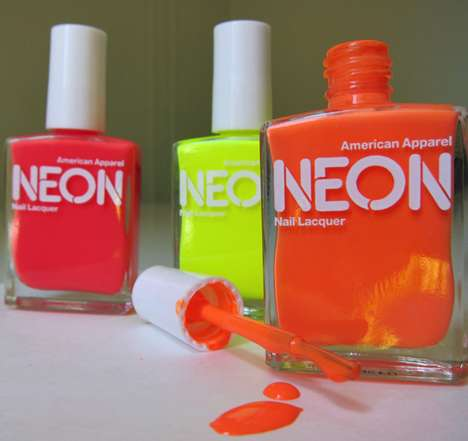 Color-Popping Fingertips - American Apparel's Limited Edition Neon Nail Polish for Summer