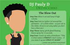 Reality Show Hair Crazes - The Jersey Shore Hair Infographic Will Help You Get Guidofied