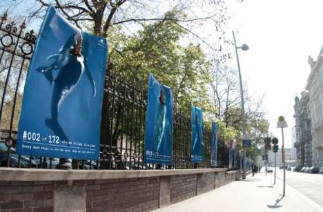 Skewered Whale Street Art