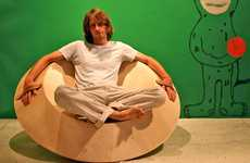 Spiriturally Spiraling Seating - The Accelerator Spinning Chair Stimulates Your Body and Mind