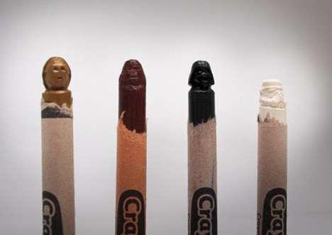 Sci-Fi Crayon Sculptures