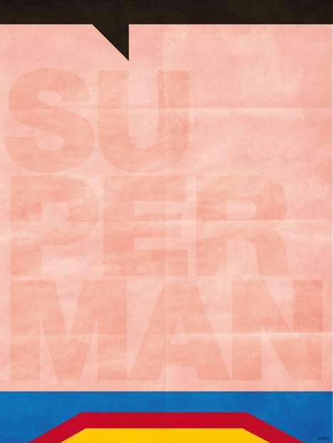 Lo-Fi Superhero Posters