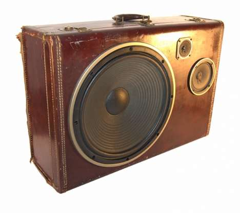 Vintage Suitcase Speakers