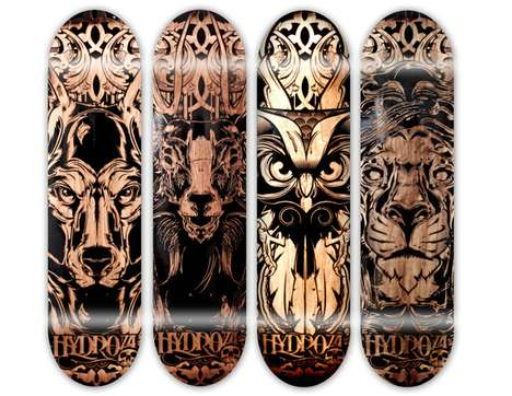 Swarthy Skate Art - The Joshua M. Smith Laser-Etched Pieces Capture Wicked Animal Prints