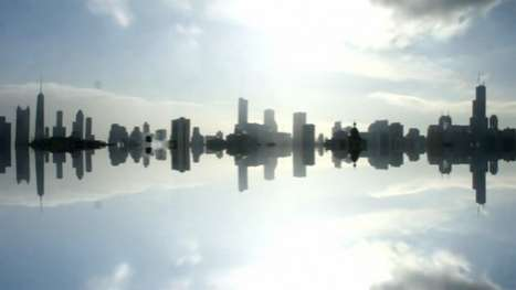 Skyline Reflection Photography