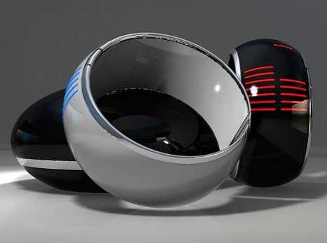 Futuristic Bangle Timepieces