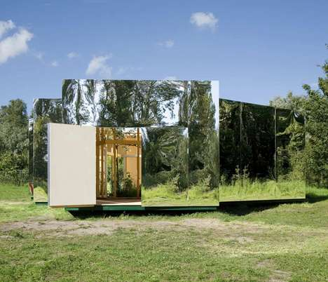 Creatively Camouflaged Spaces - 'Pavilion for an Artist' Blends into the Natural Environment