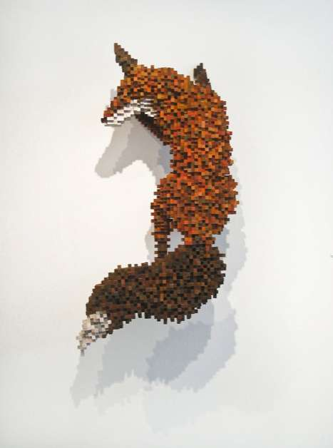 These Pixelated Animal Sculptures Will Have You Questioning Reality