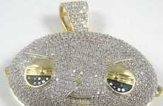Family Guy-Inspired Bling - The Diamond-Encrusted Stewie Necklace is Jam-Packed With Jewels