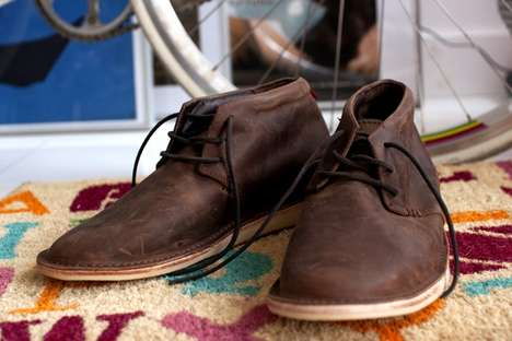 Worn Leather Loafers