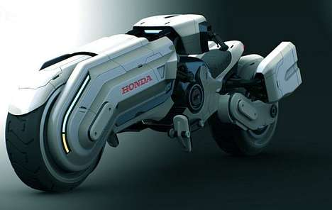 Sci-Fi Roadsters - The Honda Chopper Bike is Ultra Futuristic