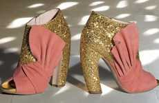 Punchy Glitter Pumps - The Miu Miu Fall Accessories Lookbook is Dazzling With Designer Shoes