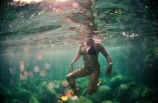 Submerged Surf Photography - Micah Camara Captures Underwater Exploration