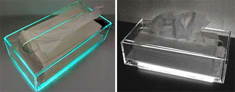 Glowing Tissue Boxes