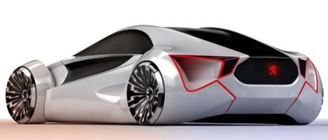 Fantasy World Autos - The Peugeot E-Motion is an Electric-Powered Futuristic Sports Car