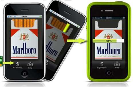 Smartphone Cigarette Sharing