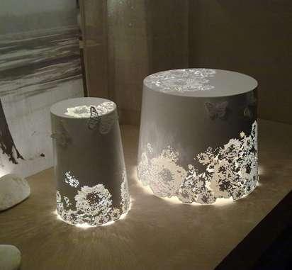 Elegant Lace-Like Luminaries