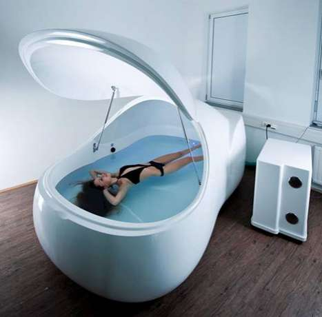 Personal Floating Chambers - The I-Sopod Floatation Tank is an Oversized Jacuzzi