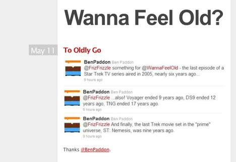 Nostalgia-Inducing Blogs - The 'Wanna Feel Old?' Tumblr Site is Sure to Garner a Few Laughs