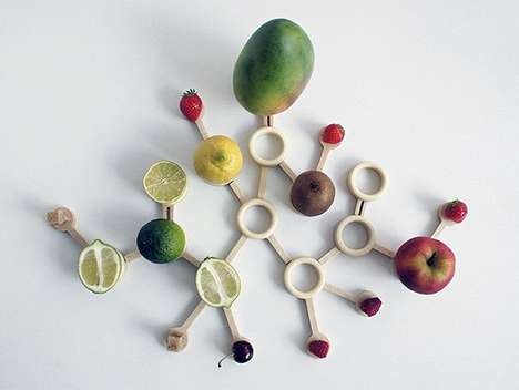 The Particle Fruit Bowl Takes the Form of a Citric Acid Molecule