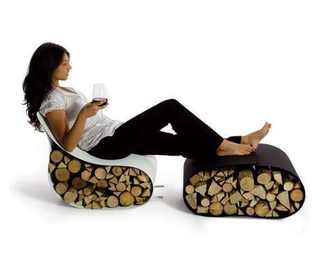 12 Contemporary Firewood Features