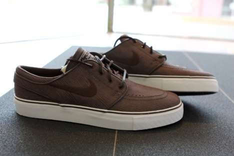 Wood-Finished Skate Shoes